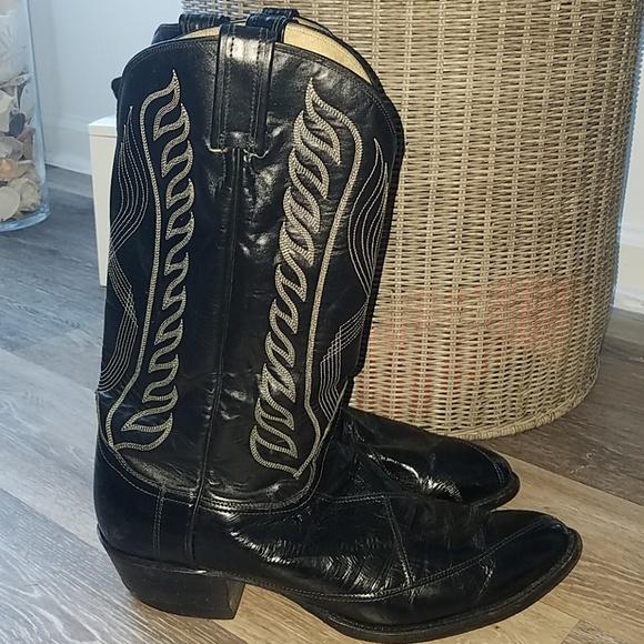 fcfd6a56976 Tony Lama cowboy boots eel skin